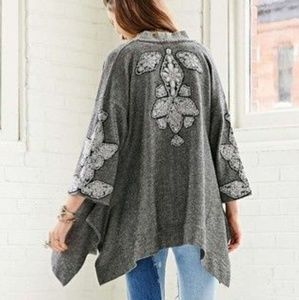 Urban Outfitters Ecote Beaded Open Front Cardigan
